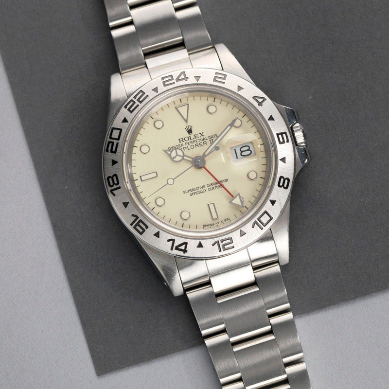 Rolex Explorer II 16550 Cream Rail Dial