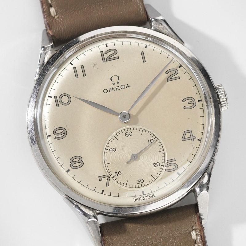 Omega Steel Oversize 37,5 mm Watch Ref 2603-12 from 1950s