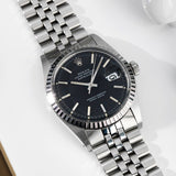 Rolex 1603 Marble Black Dial Datejust 1974