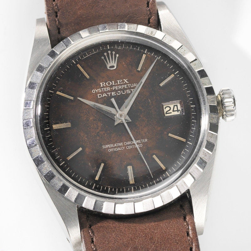 Rolex 6605 Datejust Tropical Gilt Dial 1957