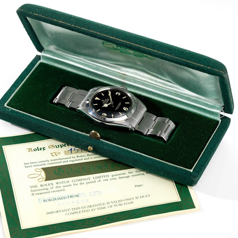 Rolex Explorer Gilt Dial 1016 Box and Papers