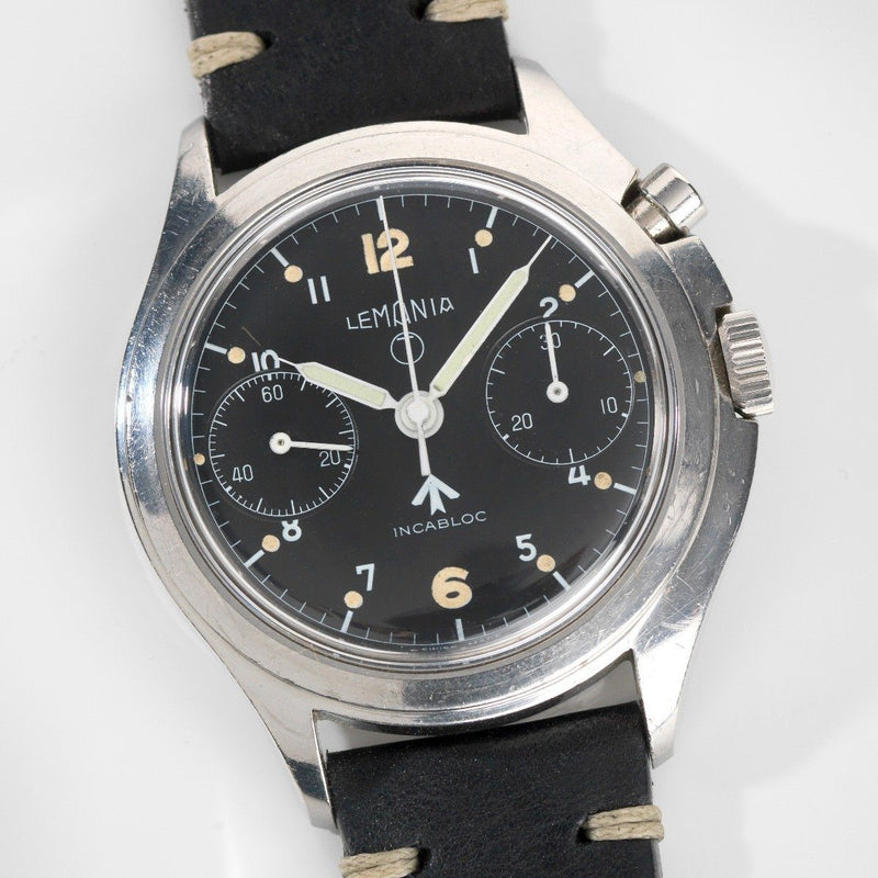 Lemania Issued Mono Pusher Chronograph Royal Air Force