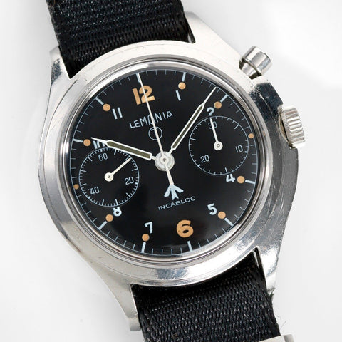 Lemania Chronograph Issued to the Royal Air Force Mono Pusher