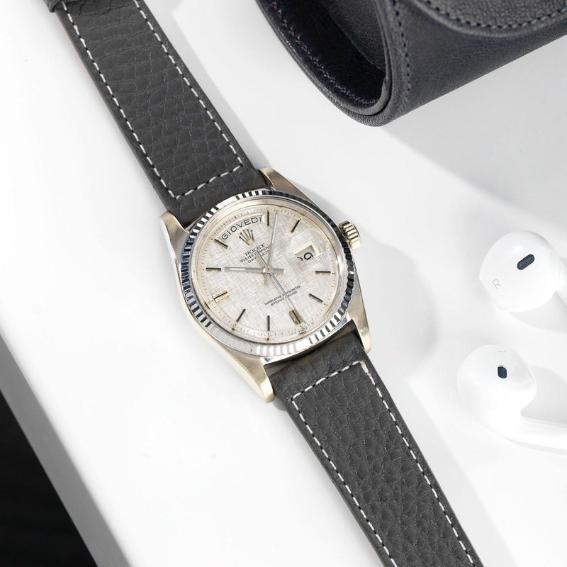 Rolex White Gold Day-Date Linen Sigma Dial 1803