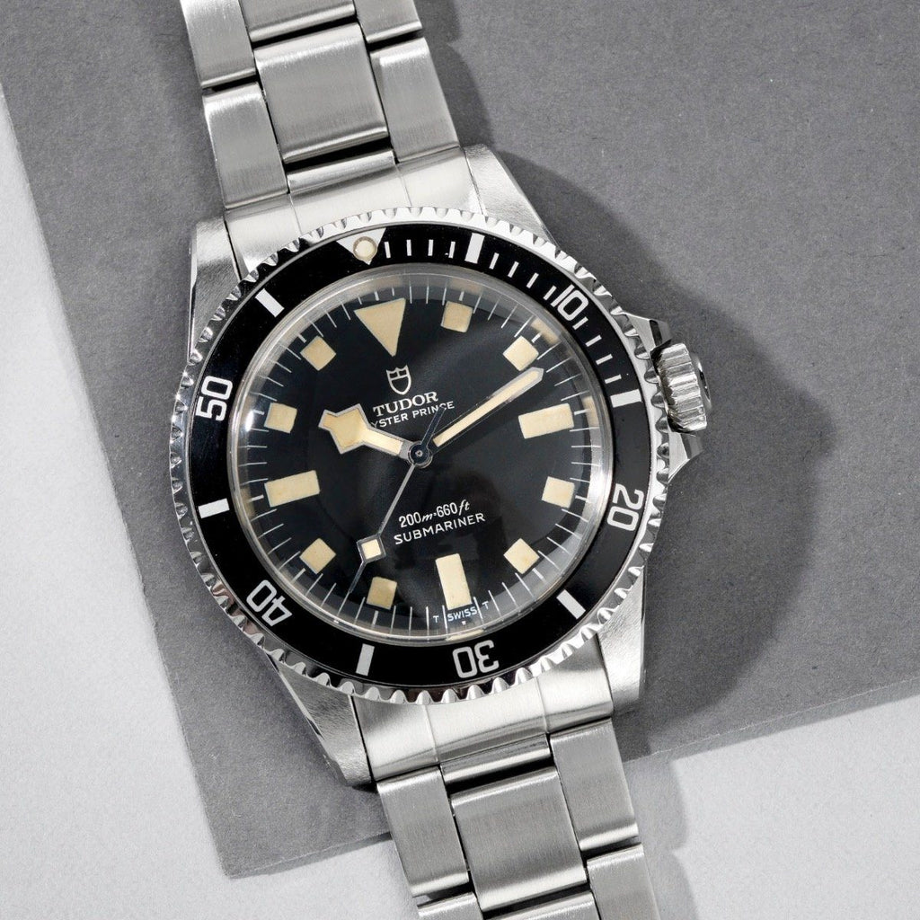 Tudor Submariner Black Snowflake no date Reference 7016 –collectors set