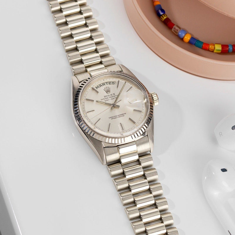 Rolex White Gold Day-Date Silver Dial 1803