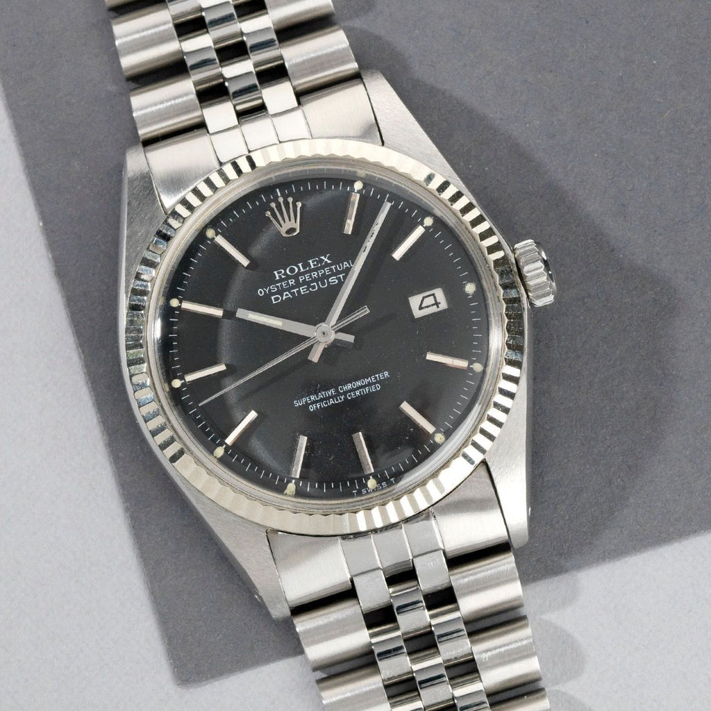 Rolex Datejust Black Dial Reference 1601