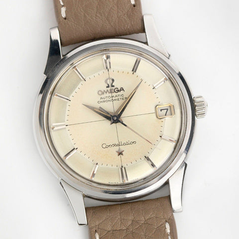Omega Constellation 14393 Crosshair Pie Pan Dial