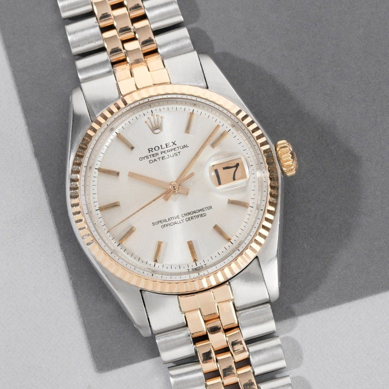 Rolex Datejust Two Tone 'Rose' Gold 1601