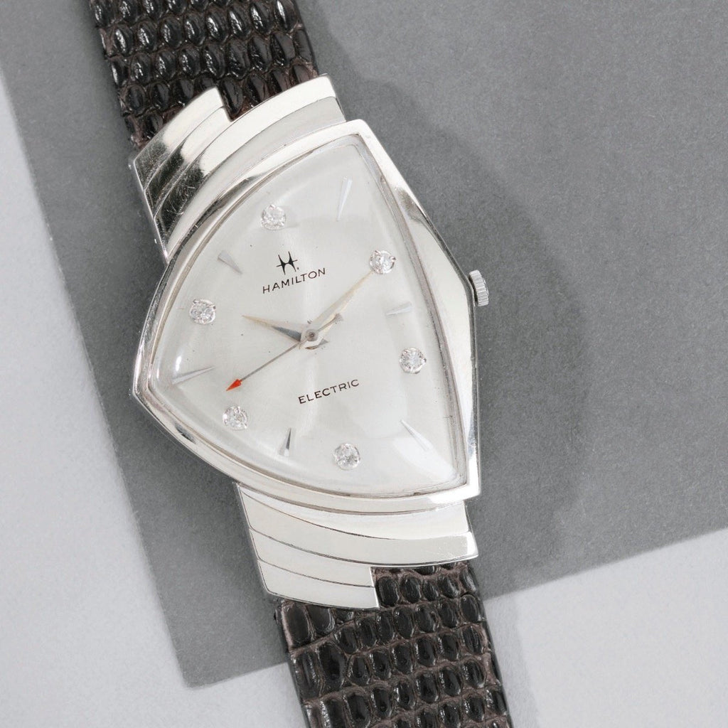 9a75247bc Hamilton Early 1960s Ventura in White Gold – Bulang and Sons
