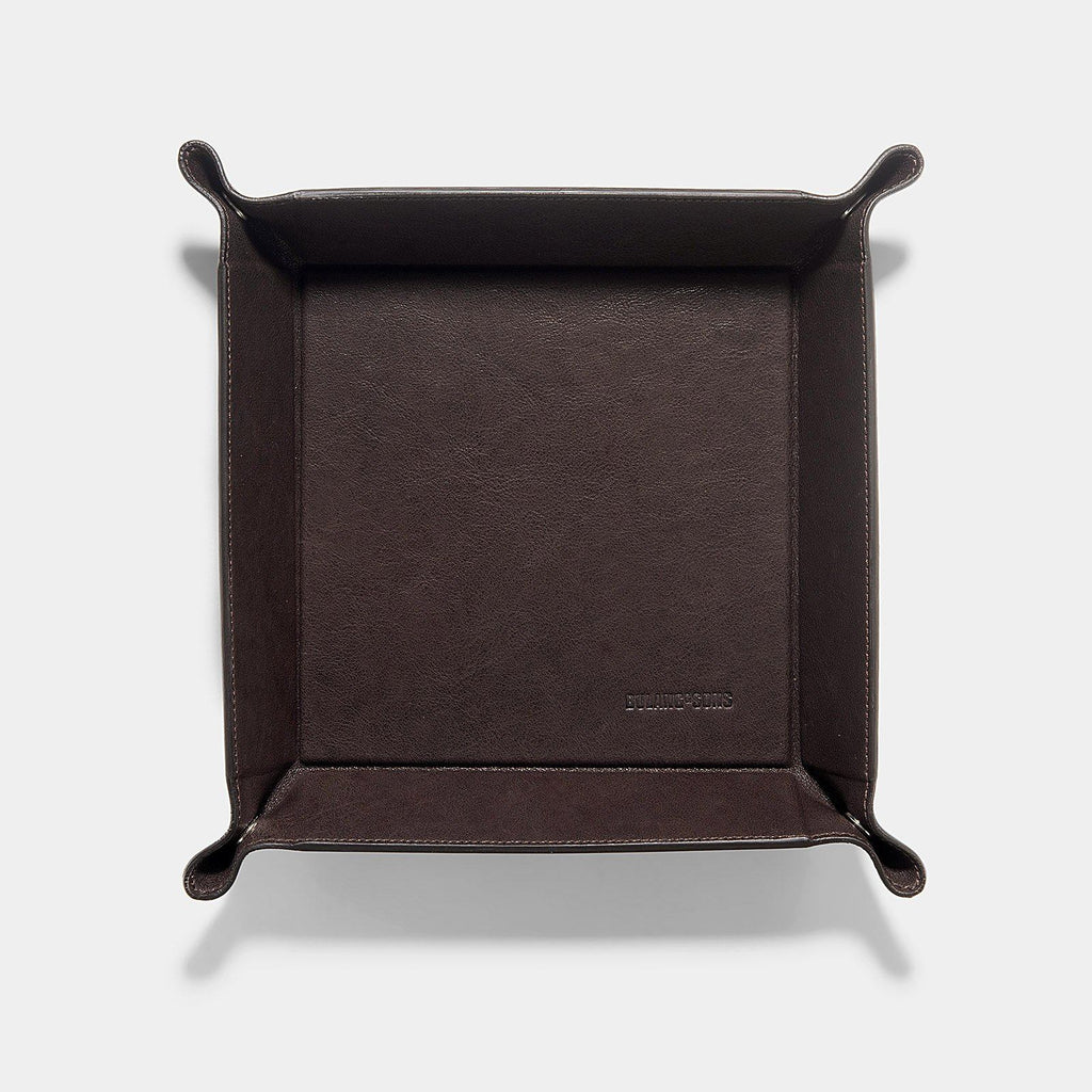 Washed Brown Big Leather Valet Tray
