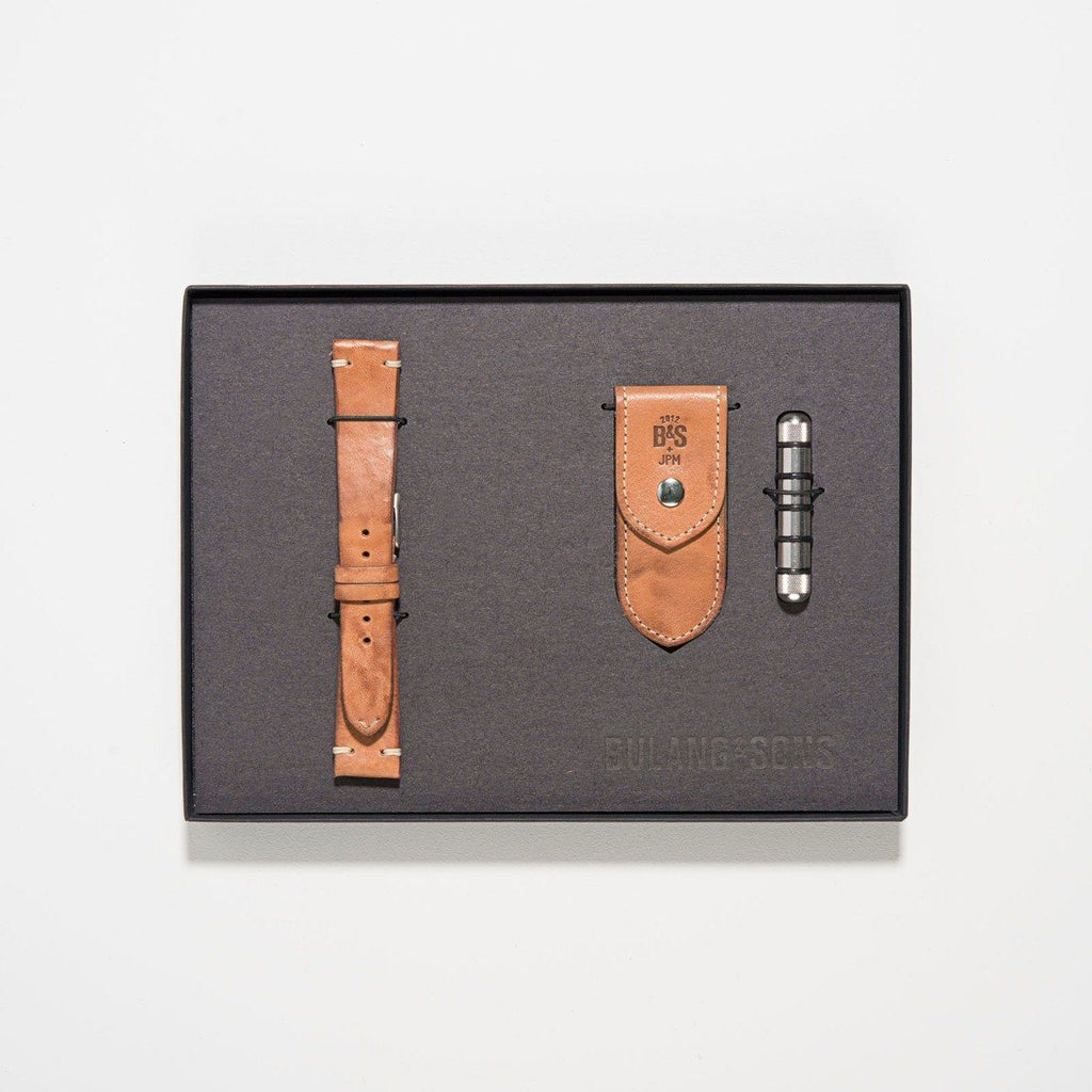Caramel Brown Strap and Tool Gift Set