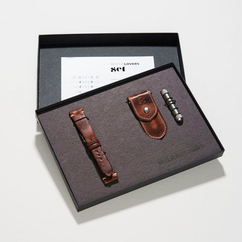 Siena Brown Strap and Tool Gift Set