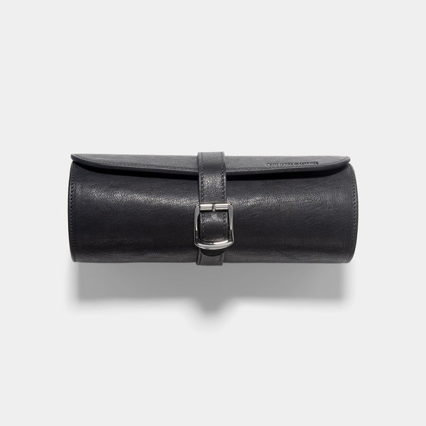 Dark Grey 3 Watch Leather Tube