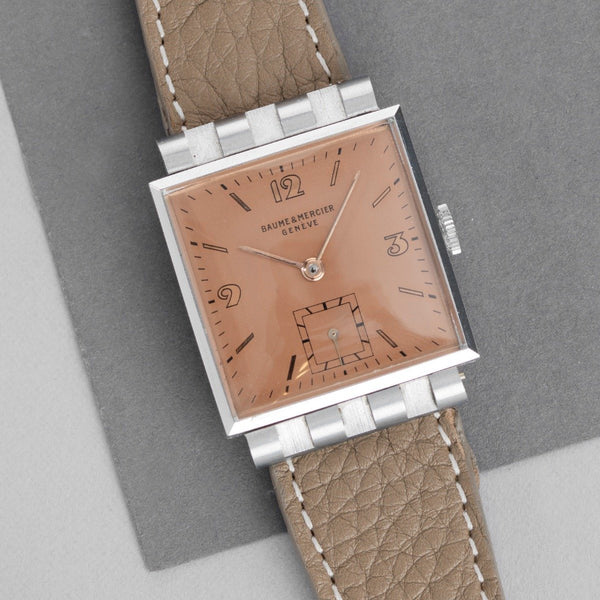 Baume & Mercier Salmon Dial Square Case