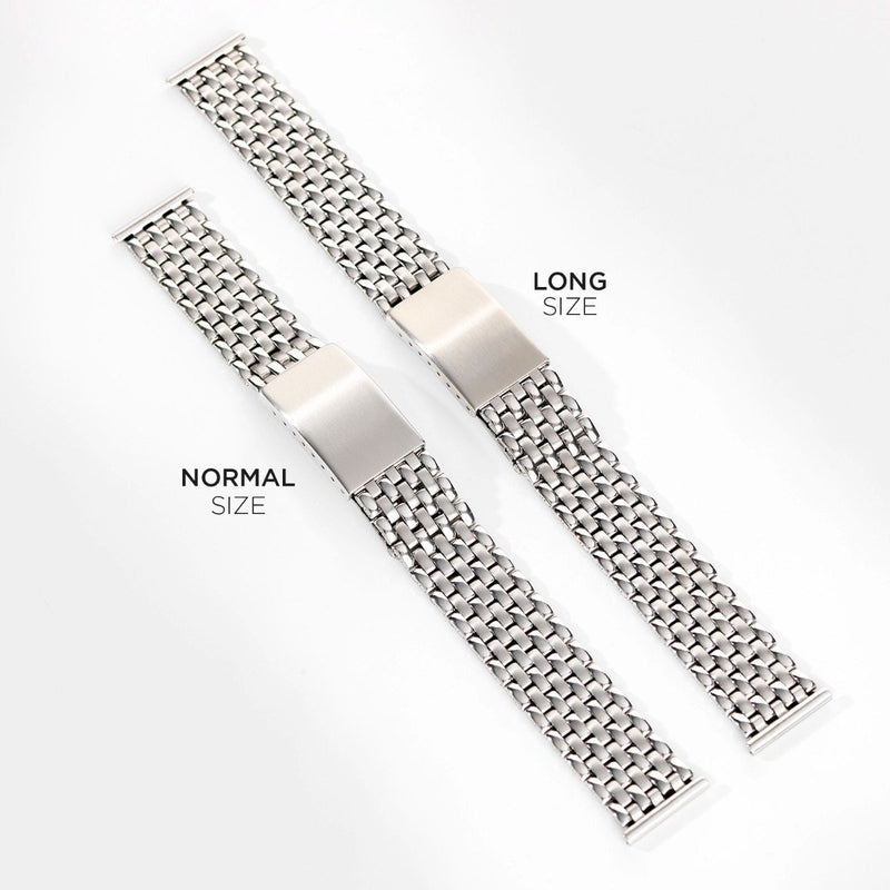 Tudor Beads Of Rice Straight End Link Steel Watch Bracelet
