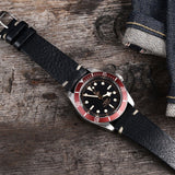 Tudor Black Leather Watch Strap