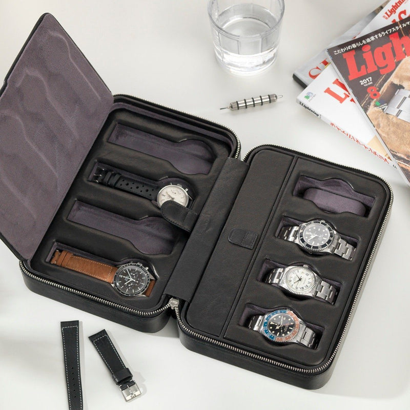 Black Luxury Leather Watch Box