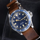 TUDOR MN 1980 BLUE SNOWFLAKE WITH LEDGER BOOK EXTRACT