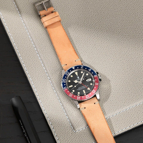 Rolex 1675 GMT Camel Brown Leather Watch Strap