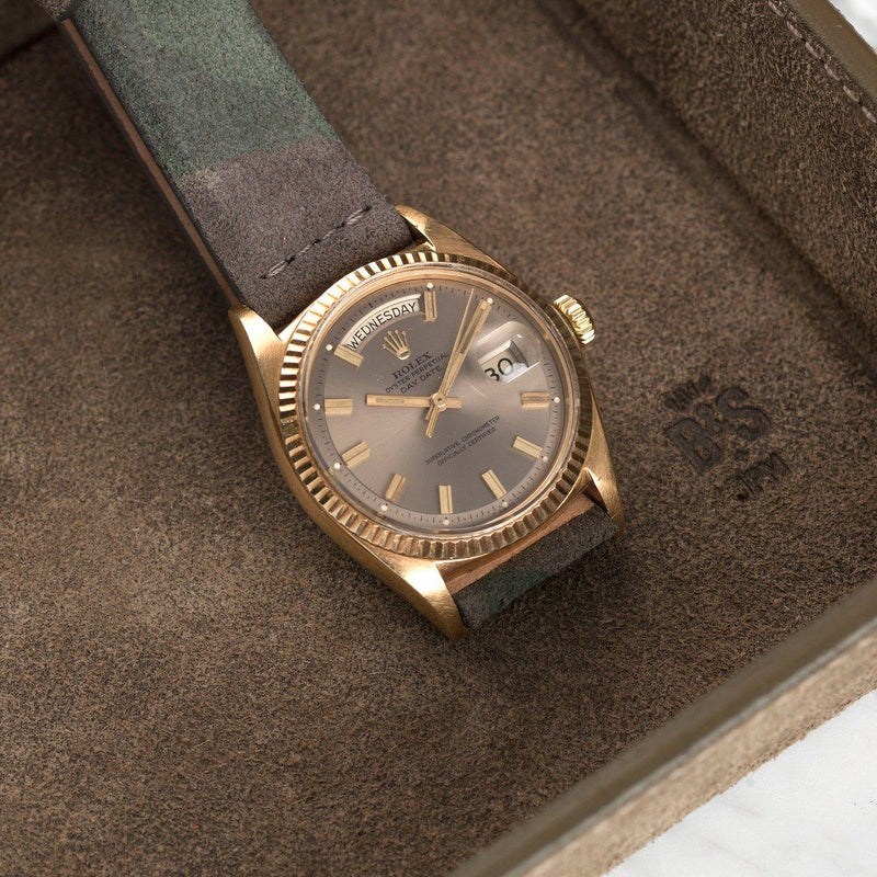 Rolex Camo Grey Suede Leather Watch Strap
