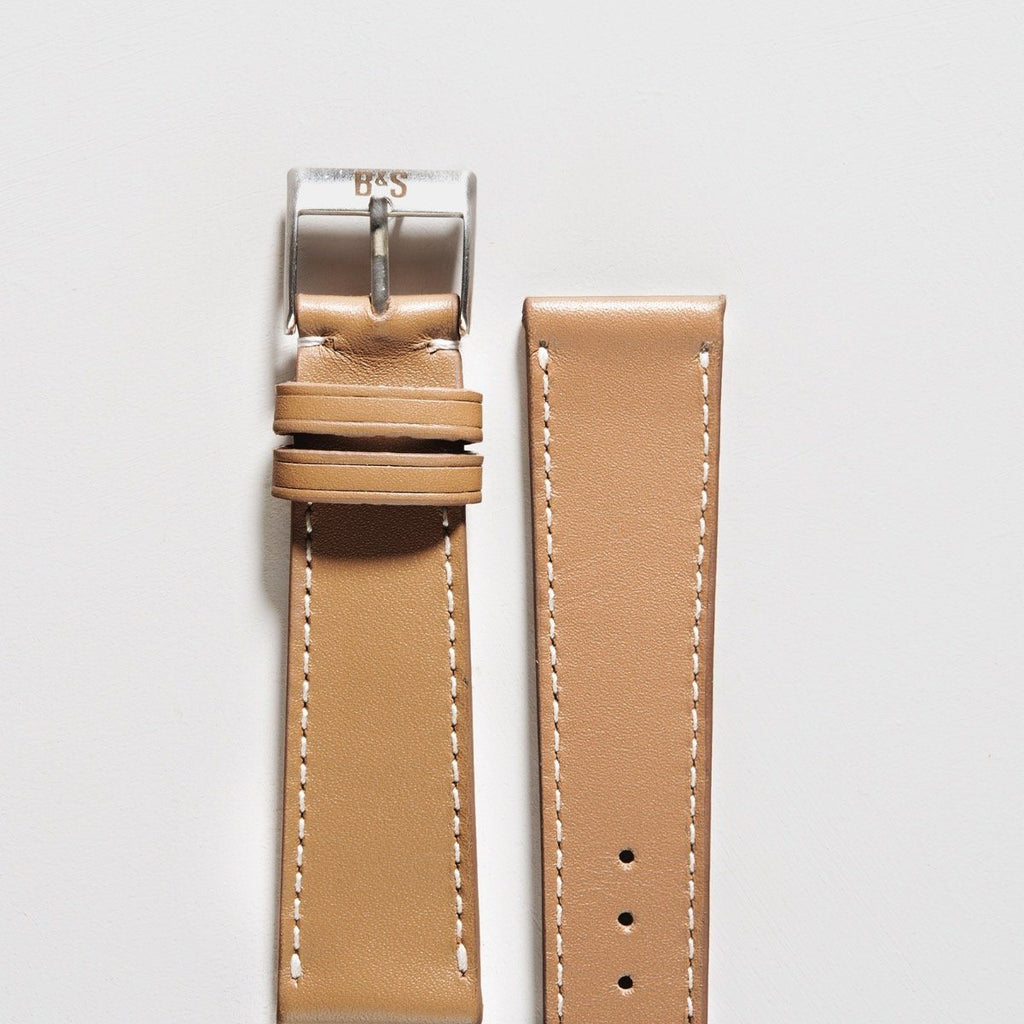 Taupe Brown Leather Watch Strap