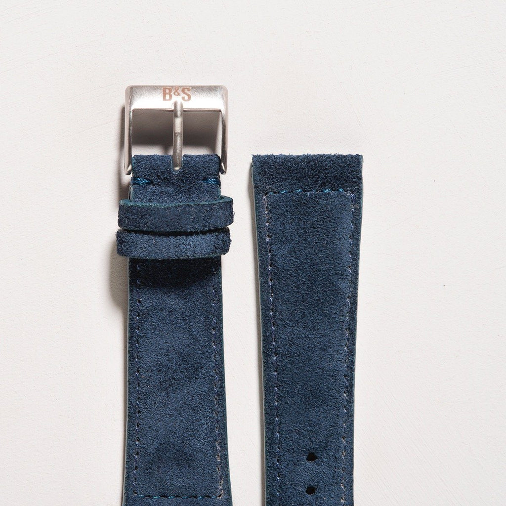 Cobalt Blue Silky Suede Watch Strap