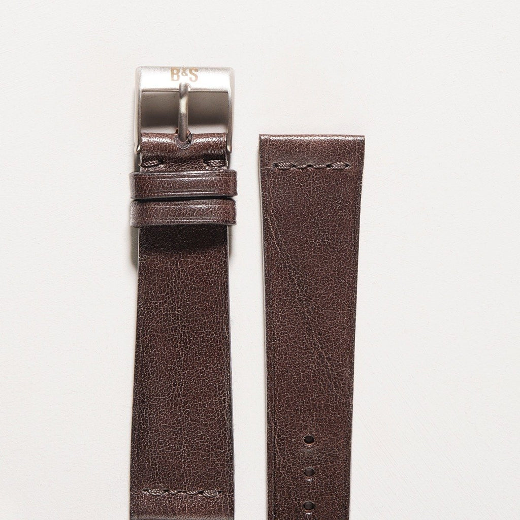 Dark Seal Brown Extra Thin Leather Watch Strap