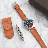 Rolex Caramel Brown Leather Watch Strap