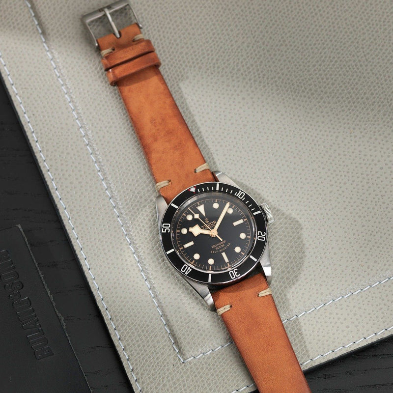 Tudor Caramel Brown Leather Watch Strap