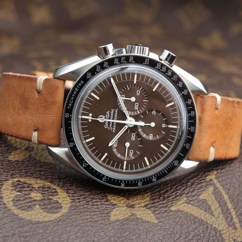 Omega Caramel Brown Leather Watch Strap