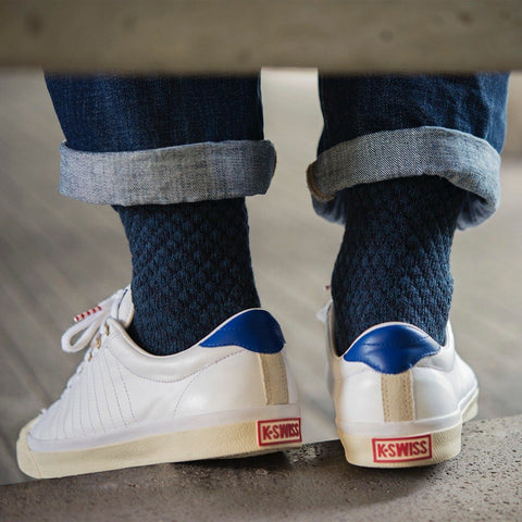 MP Crafted Garments Dark Blue Oscar Socks