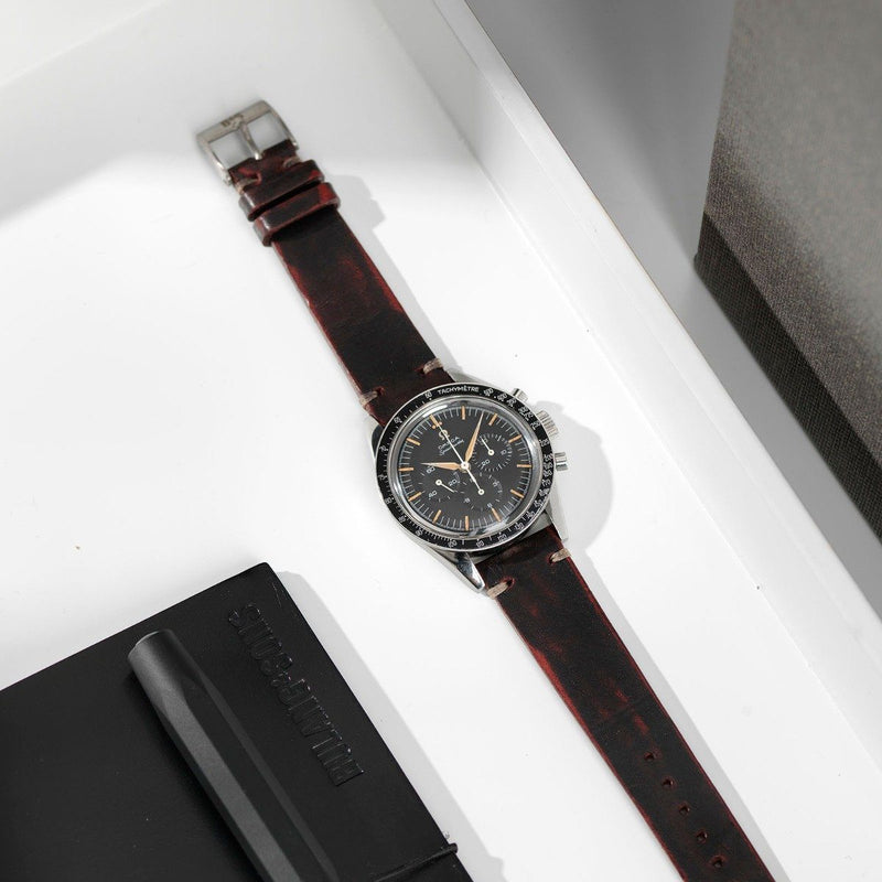 Omega Diablo Black Leather Watch Strap