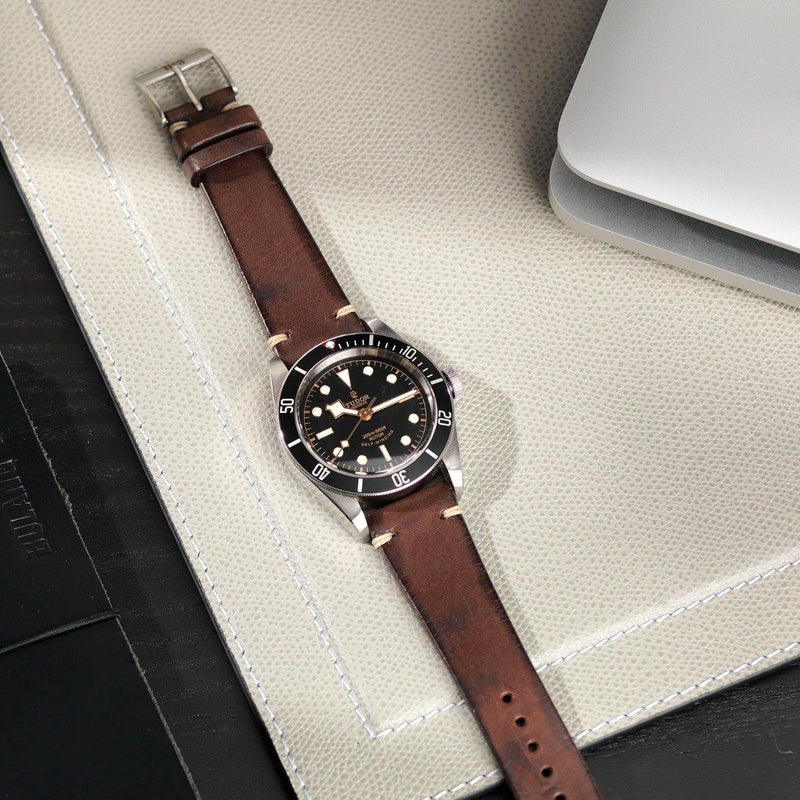 Tudor Lumberjack Brown Leather Watch Strap
