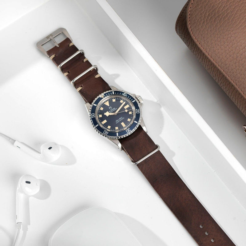 Tudor Lumberjack Brown Nato Leather Watch Strap