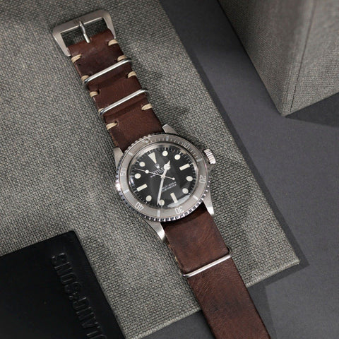Rolex Lumberjack Brown Nato Leather Watch Strap