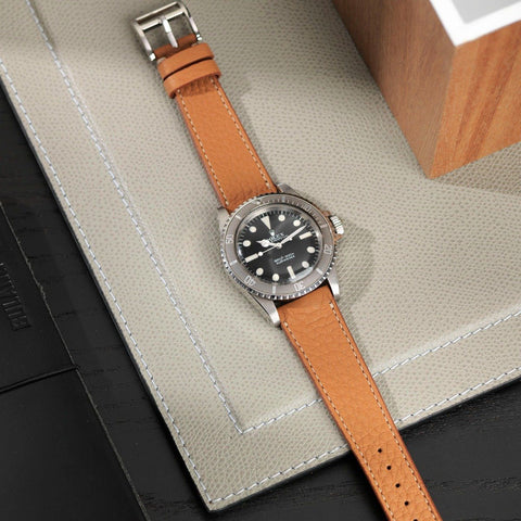 Rolex Medium Brown Leather Watch Strap