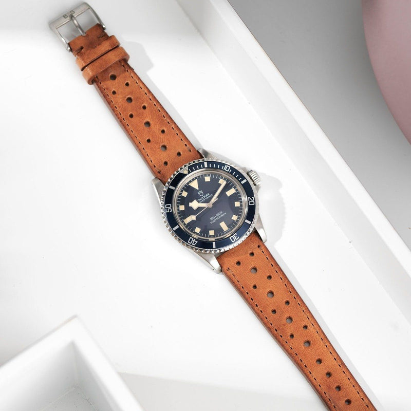 Tudor Racing Caramel Brown Leather Watch Strap