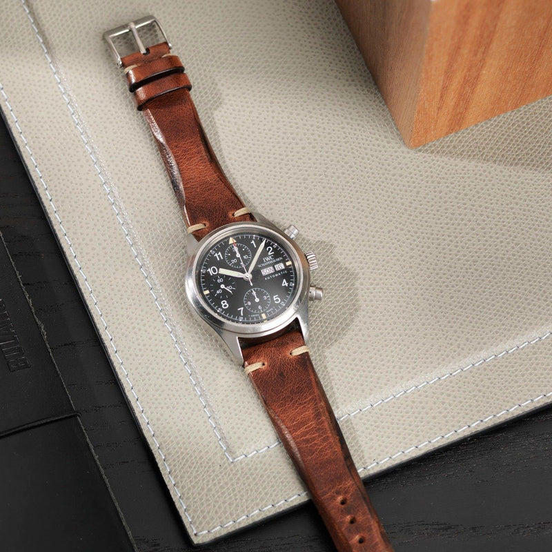 IWC Siena Brown Blade Leather Watch Strap