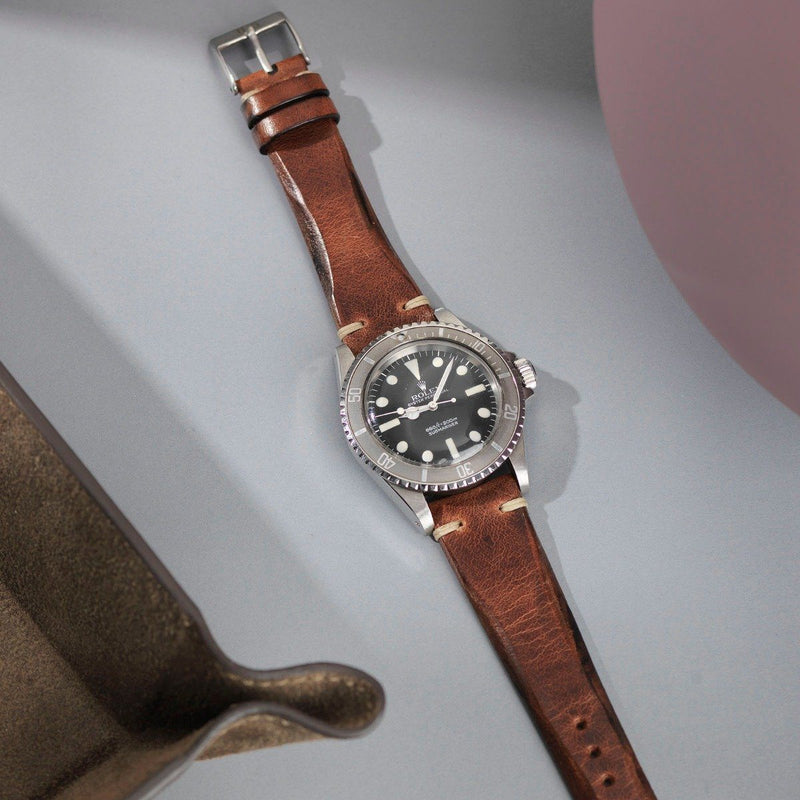 Rolex Siena Brown Blade Leather Watch Strap