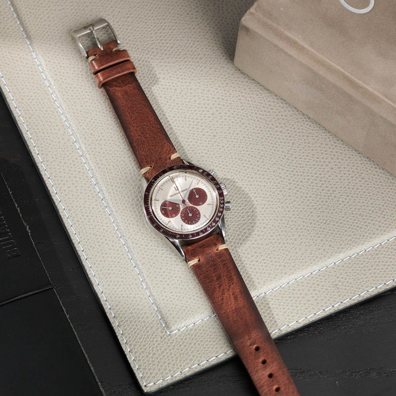 Universal Geneve Siena Brown Leather Watch Strap