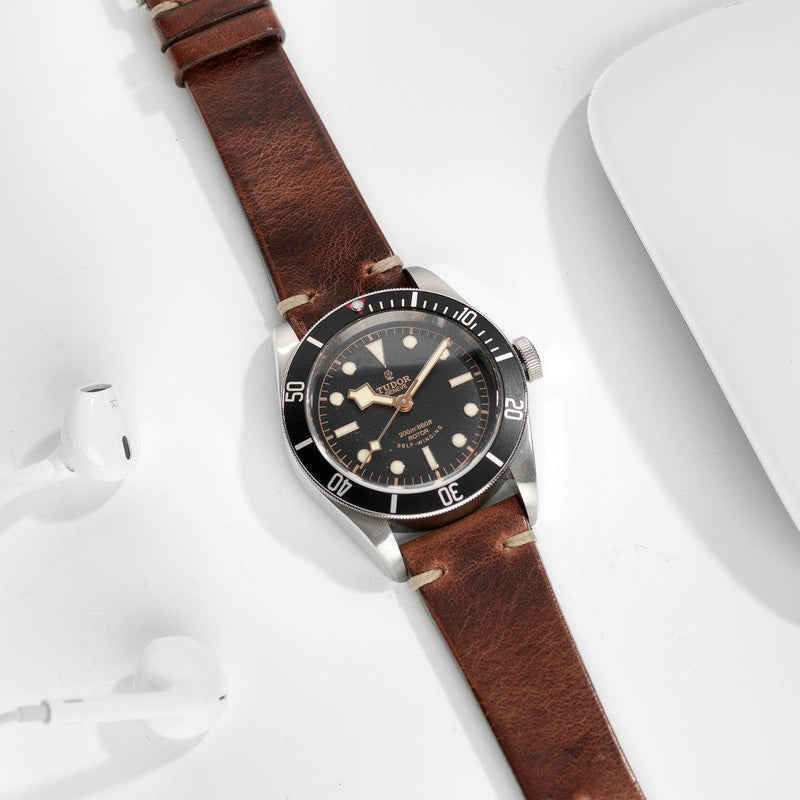Tudor Siena Brown Leather Watch Strap