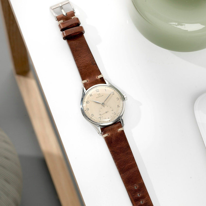Omega Siena Brown Leather Watch Strap