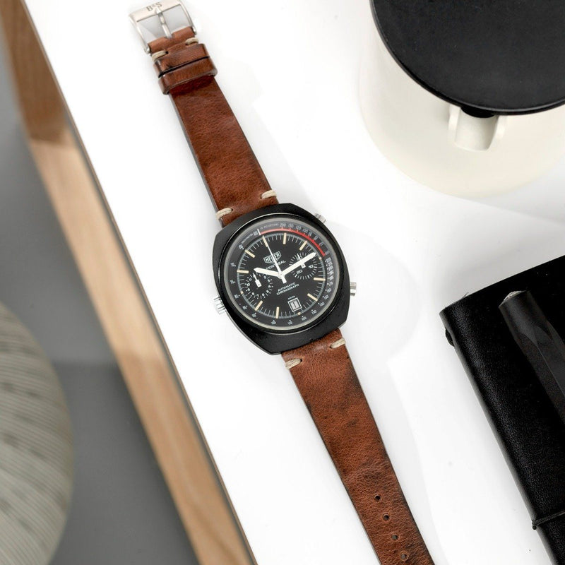 Heuer Siena Brown Leather Watch Strap