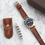 Rolex Siena Brown Leather Watch Strap