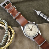 Vulcain Siena Brown Nato Leather Watch Strap