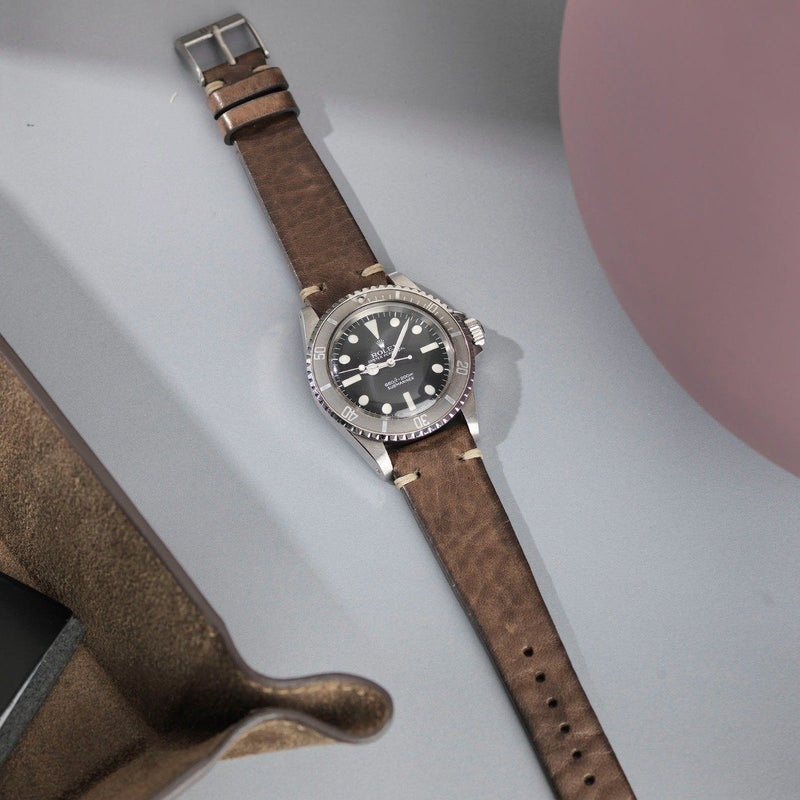 Rolex Smokeyjack Grey Leather Watch Strap