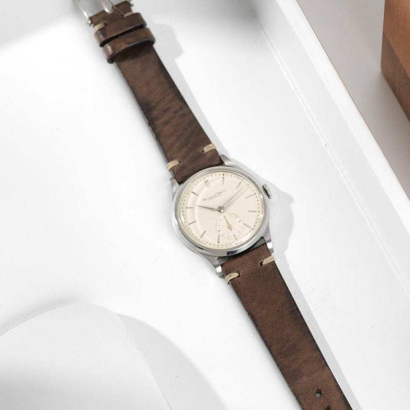 IWC Smokeyjack Grey Leather Watch Strap
