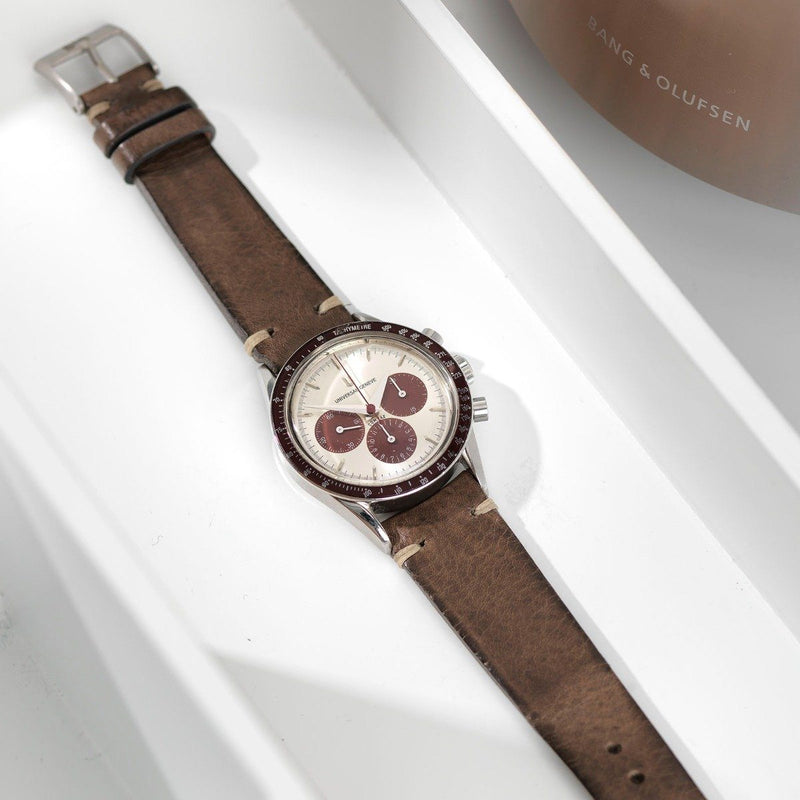 Universal Geneve Smokeyjack Grey Leather Watch Strap