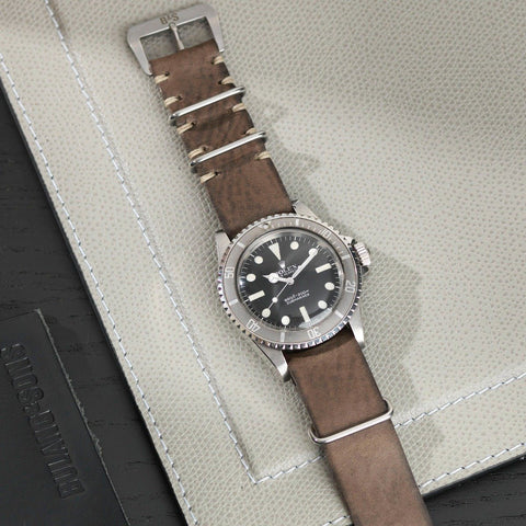 Rolex Smokeyjack Grey Nato Leather Watch Strap
